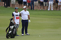 Patrick Reed (USA) on the 18th fairway during the 3rd round of the DP World Tour Championship, Jumeirah Golf Estates, Dubai, United Arab Emirates. 17/11/2018<br /> Picture: Golffile | Fran Caffrey<br /> <br /> <br /> All photo usage must carry mandatory copyright credit (&copy; Golffile | Fran Caffrey)