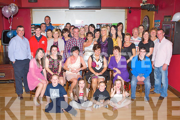 Karena McLarnon Kilcummin seated centre who celebrated her 21st birthday with her family and frieds in the Village Inn Kilcummin on Saturday night..