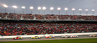 NASCAR Nextel Cup Series rookie driver #42 Juan Pablo Montoya leads early during the second of two 150 mile qualifying races before wrecking during the Gatorade Duel at Daytona International Speedway in Daytona Beach, Fl. (The Florida Times-Union, Rick Wilson)
