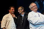 Martin Berasategui (I), Michel Bras (C), Juan Mari Arzak (D).  Feria de gastronomía San Sebastián Gastronomika. Congreso Internacional de Gastronomía con lo mejor de la gastronomía vasca, española y mundial