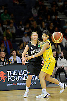 2012 FIBA Oceania Women's U19 Championship match between NZ Junior Tall Ferns and Australian Gems at Te Rauparaha Arena, Porirua, Wellington, New Zealand on Saturday, 22 September 2012.<br />