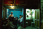 Shops in the Paharganj district of New Delhi,  India.