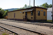 Old Train Station in Bartlett, New Hampshire USA along the Maine Central Railroad