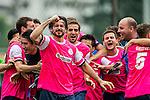 Aston Villa vs Yau Yee League Select during their Main Shield Semi-Final as part of day three of the HKFC Citibank Soccer Sevens 2015 on May 31, 2015 at the Hong Kong Football Club in Hong Kong, China. Photo by Xaume Olleros / Power Sport Images