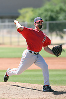 Matt Shoemaker #78 of the Los Angeles Angels plays in a minor league spring training game against the Chicago Cubs at the Angels minor league complex on April 4, 2011  in Tempe, Arizona. .Photo by:  Bill Mitchell/Four Seam Images.