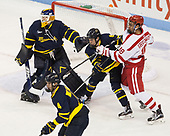 Collin Delia (Merrimack - 1), Marc Biega (Merrimack - 4), Alex Carle (Merrimack - 6), Jordan Greenway (BU - 18) - The visiting Merrimack College Warriors defeated the Boston University Terriers 4-1 to complete a regular season sweep on Friday, January 27, 2017, at Agganis Arena in Boston, Massachusetts.The visiting Merrimack College Warriors defeated the Boston University Terriers 4-1 to complete a regular season sweep on Friday, January 27, 2017, at Agganis Arena in Boston, Massachusetts.