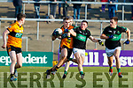 Mark Cronin Nemo Rangers in action against Dylan Casey of Austin Stacks during the AIB Munster GAA Football Senior Club Championship semi-final match between Nemo Rangers and Austin Stacks at Páirc Ui Rinn in Cork.