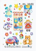 Interlitho, Nino, BABIES, paintings, blue rabbit, symbols(KL3842,#B#)