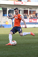 Dan Potts of Luton Town during the Sky Bet League 2 match between Luton Town and Crawley Town at Kenilworth Road, Luton, England on 12 March 2016. Photo by David Horn/PRiME Media Images.