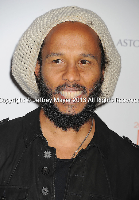 CENTURY CITY, CA- MAY 03: Musician Ziggy Marley arrives at the 20th Annual Race To Erase MS Gala 'Love To Erase MS' at the Hyatt Regency Century Plaza on May 3, 2013 in Century City, California.