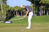 Jeunghun Wang (KOR) putts on the 7th green during Saturday's Round 3 of the 2018 Turkish Airlines Open hosted by Regnum Carya Golf &amp; Spa Resort, Antalya, Turkey. 3rd November 2018.<br /> Picture: Eoin Clarke | Golffile<br /> <br /> <br /> All photos usage must carry mandatory copyright credit (&copy; Golffile | Eoin Clarke)