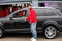 Real Madrid player Raul Albiol participates and receives new Audi during the presentation of Real Madrid's new cars made by Audi at the Jarama racetrack on November 8, 2012 in Madrid, Spain.(ALTERPHOTOS/Harry S. Stamper) .<br /> &copy;NortePhoto