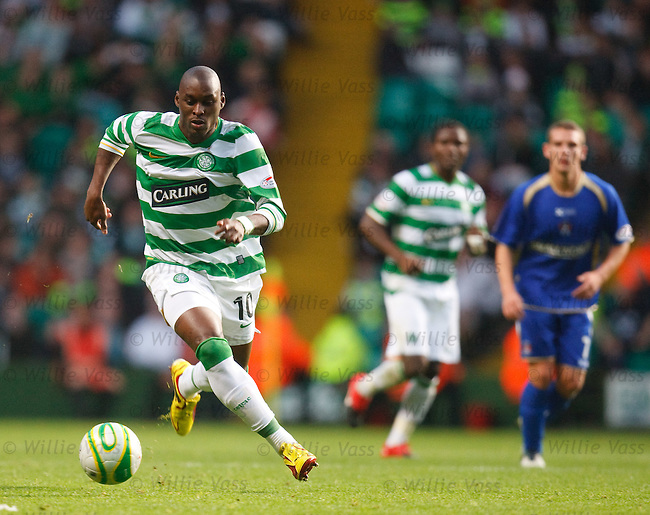 Marc-Antoine Fortune attacks for Celtic