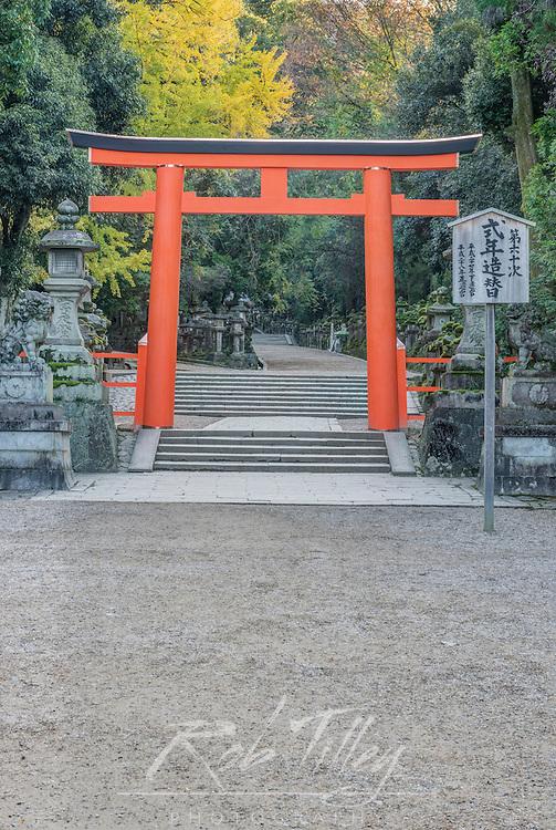 Japan, Nara, Kasuga Shrine Torii Gate