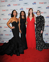 www.acepixs.com<br /> April 25, 2017  New York City<br /> <br /> Women's March National Co-Chairs Carmen Perez, Bob Bland, Tamika D. Mallory, and Linda Sarsour attend the 2017 Time 100 Gala at Jazz at Lincoln Center on April 25, 2017 in New York City.<br /> <br /> Credit: Kristin Callahan/ACE Pictures<br /> <br /> <br /> Tel: 646 769 0430<br /> Email: info@acepixs.com