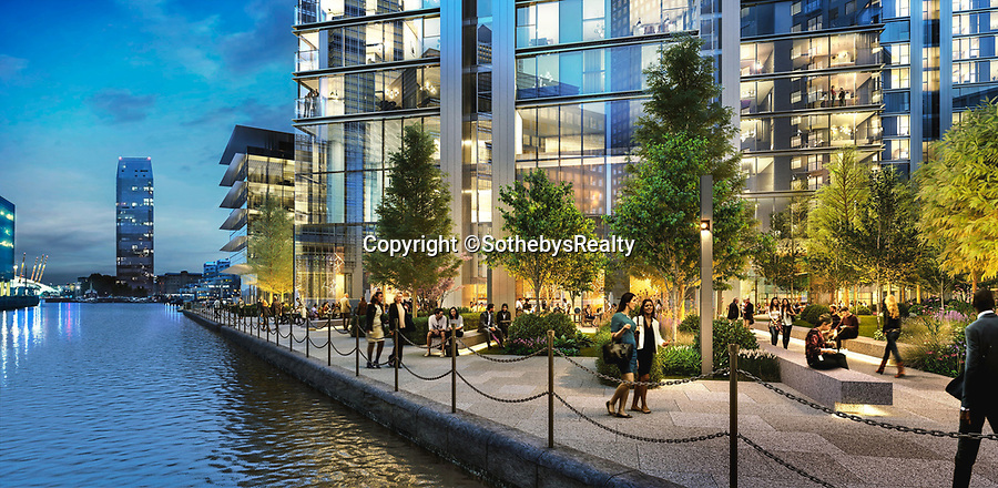 BNPS.co.uk (01202 558833)<br /> Pic: SothebysRealty/BNPS<br /> <br /> Living on the edge... <br /> <br /> Is this the best view in London ...<br /> <br /> A stunning apartment offering a breathtaking panorama of the nation's capital has emerged for sale for £900,000.<br /> <br /> The stylish one bedroom flat is located on the 43rd floor of the new-build 704ft Valiant Tower in South Quay Plaza in Canary Wharf.<br /> <br /> It overlooks Greenwich and the River Thames, with London's major landmarks on display.<br /> <br /> The building has a rooftop terrace, a swimming pool and a gym, and is surrounded by waterside gardens.<br /> <br /> The flat is being sold with estate agent Sotheby's International Realty.