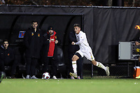 WINSTON-SALEM, NC - NOVEMBER 24: Malcolm Johnston #11 of the University of Maryland runs with the ball during a game between Maryland and Wake Forest at W. Dennie Spry Stadium on November 24, 2019 in Winston-Salem, North Carolina.