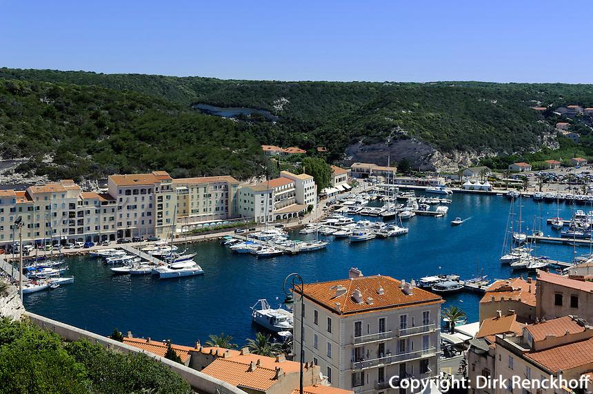 Hafen von Bonifacio, Korsika, Frankreich