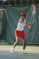STANFORD, CA - JANUARY 30:  Hilary Barte of the Stanford Cardinal during Stanford's 6-1 win over the Colorado Buffaloes in the ITA Indoor Qualifying on January 30, 2009 at the Taube Family Tennis Stadium in Stanford, California.