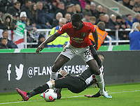 Axel Tuanzebe of Man Utd during the Premier League match between Newcastle United and Manchester United at St. James's Park, Newcastle, England on 6 October 2019. Photo by J GILL / PRiME Media Images.