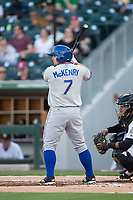 Michael McKenry (7) of the Durham Bulls at bat against the Charlotte Knights at BB&T BallPark on May 15, 2017 in Charlotte, North Carolina. The Knights defeated the Bulls 6-4.  (Brian Westerholt/Four Seam Images)