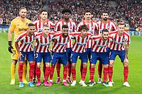 Atletico team during the Atletico de Madrid against Juventus Uefa Champions League football match at Wanda Metropolitano stadium in Madrid on September 18, 2019.