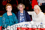 Nora, Carmel and Cis O'Connor from Tralee enjoying the Irish Red Cross Tralee Branch Christmas Tea Party in the Grand Hotel on Sunday afternoon.