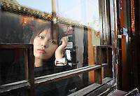 """Chung Shu, author of """"Beijing Doll"""", photographed near her home in Beijing, China on 18 March, 2008."""
