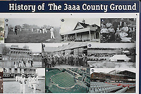 History of the 3aaa County Ground display ahead of Derbyshire CCC vs Essex CCC, Specsavers County Championship Division 2 Cricket at the 3aaa County Cricket Ground on 15th August 2016