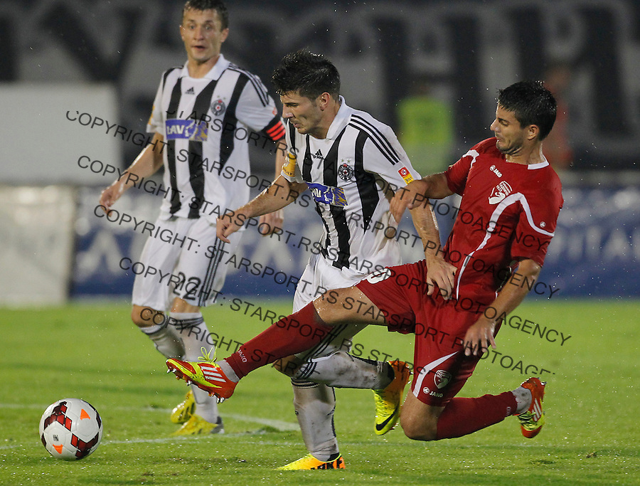 Fudbal Super liga season 2013-2014<br /> Partizan v Radnicki Kragujevac<br /> Milos Jojic and Stefan Petrovic<br /> Beograd, 25.08.2013.<br /> foto: Srdjan Stevanovic/Starsportphoto &copy;
