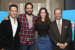 "Chris Diamantopoulos, Will Swenson, Sara Bareilles and Producer Barry Weissler attend the Meet the new cast of ""Waitress"" at St. Cloud Rooftop Restaurant at The Knickerbocker Hotel on March 23, 2017 in New York City."