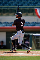 Jupiter Hammerheads Riley Mahan (2) bats during a Florida State League game against the Florida Fire Frogs on April 11, 2019 at Osceola County Stadium in Kissimmee, Florida.  Jupiter defeated Florida 2-0.  (Mike Janes/Four Seam Images)