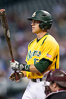 Baylor Bears outfielder Adam Toth (15) at the plate during the Houston College Classic against the Texas A&M Aggies on March 8, 2015 at Minute Maid Park in Houston, Texas. Texas A&M defeated Baylor 3-2. (Andrew Woolley/Four Seam Images)