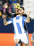 CD Leganes' David Timor (f) and Celta de Vigo's Pedro Pablo Hernandez during La Liga match. January 28,2017. (ALTERPHOTOS/Acero)