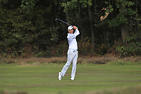 Jaco Van Zyl (RSA) on the 2nd during Round 2 of the Sky Sports British Masters at Walton Heath Golf Club in Tadworth, Surrey, England on Friday 12th Oct 2018.<br /> Picture:  Thos Caffrey | Golffile<br /> <br /> All photo usage must carry mandatory copyright credit (&copy; Golffile | Thos Caffrey)