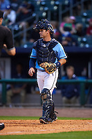 NW Arkansas Naturals catcher Micah Gibbs (7) during a game against the San Antonio Missions on May 30, 2015 at Arvest Ballpark in Springdale, Arkansas.  San Antonio defeated NW Arkansas 5-2.  (Mike Janes/Four Seam Images)