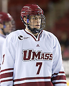 Michael Pereira (UMass - 7) - Sweden's Under-20 team played its last game on this Massachusetts tour versus the University of Massachusetts-Amherst Minutemen losing 5-1 on Saturday, November 6, 2010, at the Mullins Center in Amherst, Massachusetts.