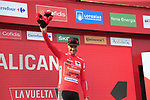 Nicolas Roche (IRL) Team Sunweb retains the race leaders Red Jersey at the end of Stage 3 of La Vuelta 2019 running 188km from Ibi. Ciudad del Juguete to Alicante, Spain. 26th August 2019.<br /> Picture: Ann Clarke | Cyclefile<br /> <br /> All photos usage must carry mandatory copyright credit (© Cyclefile | Ann Clarke)
