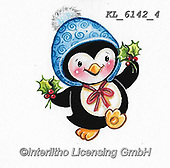 CHRISTMAS ANIMALS, WEIHNACHTEN TIERE, NAVIDAD ANIMALES, paintings+++++,KL6142/4,#xa# ,sticker,stickers