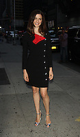 NEW YORK, NY-August 25:  Rachel Weisz at the Late Show with Stephen Colbert to talk about her new movie Complete Unknown in New York. August 25, 2016. Credit:RW/MediaPunch