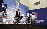 Josuha Guilavogui during the official presentation as an Atletico de Madrid´s new football player in Vicente Calderon Stadium, Madrid. September 13, 2013. (ALTERPHOTOS/Victor Blanco)