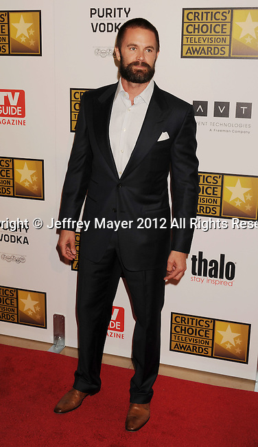 BEVERLY HILLS, CA - JUNE 18: Garret Dillahunt arrives at The Critics' Choice Television Awards at The Beverly Hilton Hotel on June 18, 2012 in Beverly Hills, California.