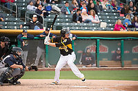 Ryan Jackson (5) of the Salt Lake Bees at bat against the Colorado Springs Sky Sox in Pacific Coast League action at Smith's Ballpark on May 22, 2015 in Salt Lake City, Utah.  (Stephen Smith/Four Seam Images)