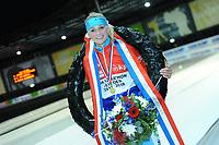 SCHAATSEN: UTRECHT: 01-01-2018, NK Marathonschaatsen, winnares Irene Schouten, ©foto Martin de Jong