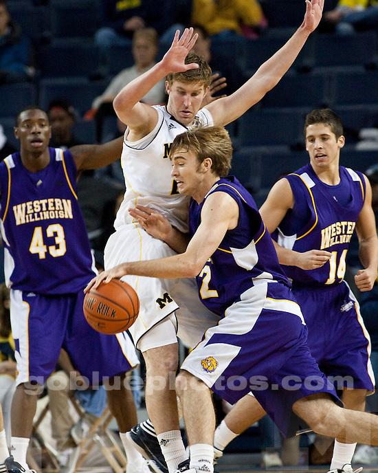 The University of Michigan men's basketball team beat  Western Illinois, 59-55, at Crisler Arena in Ann Arbor, Mich., on November, 17 2011.