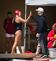 STANFORD, CA - April 20, 2019: Cassidy Wiley, John Tanner at Avery Aquatic Center. The #1 Stanford Cardinal took down the #20 San Jose State Spartans 22-4.