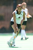 STANFORD, CA - SEPTEMBER 6: Elise Ogle plays against Michigan State on September 6, 2010 in Stanford, California.