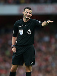 Referee Michael Oliver in action during the Premier League match at the Emirates Stadium, London. Picture date September 24th, 2016 Pic David Klein/Sportimage