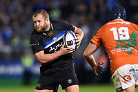 Scott Andrews of Bath Rugby in possession. European Rugby Champions Cup match, between Bath Rugby and Benetton Rugby on October 14, 2017 at the Recreation Ground in Bath, England. Photo by: Patrick Khachfe / Onside Images