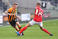 Hull City's Thomas Mayer battles with Crew Alexandra's Oliver Finney<br /> <br /> Photographer Dave Howarth/CameraSport<br /> <br /> The EFL Sky Bet League One - Hull City v Crewe Alexandra - Saturday 19th September 2020 - KCOM Stadium - Kingston upon Hull<br /> <br /> World Copyright © 2020 CameraSport. All rights reserved. 43 Linden Ave. Countesthorpe. Leicester. England. LE8 5PG - Tel: +44 (0) 116 277 4147 - admin@camerasport.com - www.camerasport.com